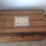 """For Sale: Louis Vuitton Truhe Reisekoffer Steamer Trunk """"Malle Courier Rayee"""""""