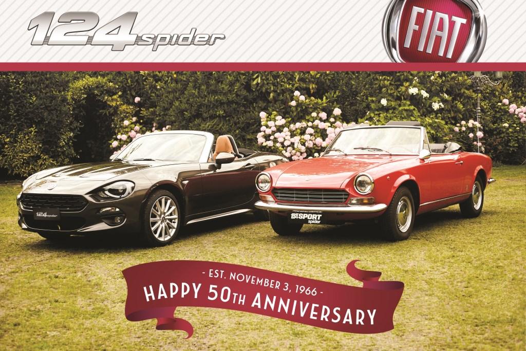 Der Fiat 124 Spider feiert seinen ersten 50.sten Geburtstag