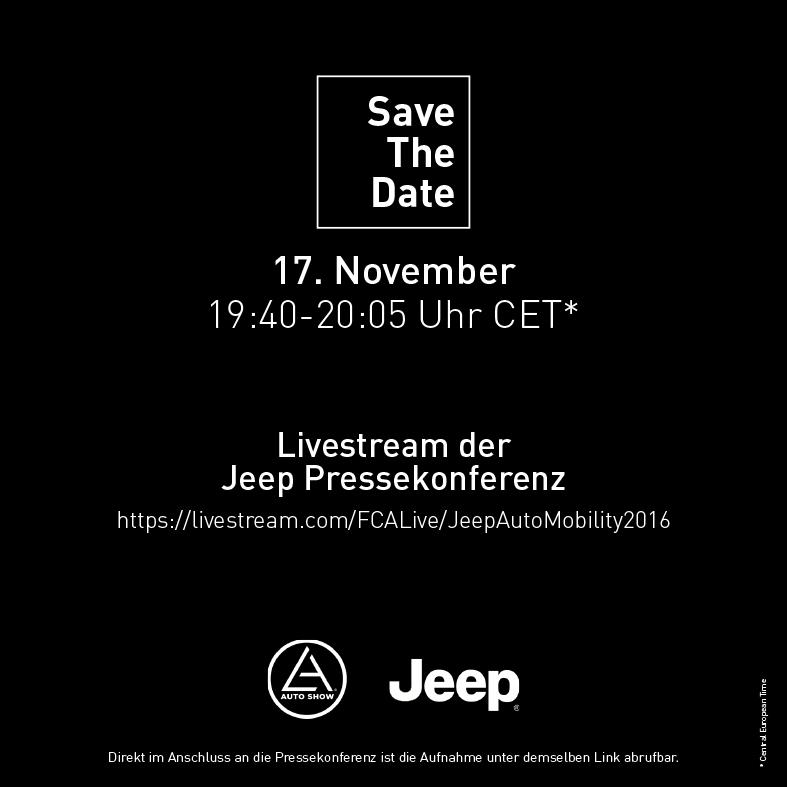 Livestream der Jeep® Pressekonferenz auf der Los Angeles Motor Show