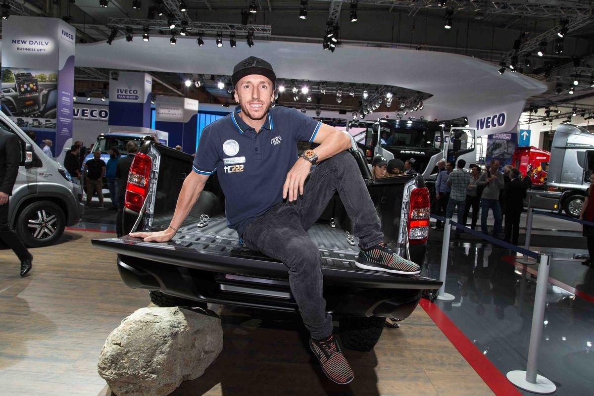 "Antonio ""Tony"" Cairoli (8-facher Weltmeister) auf der IAA-Nutzfahrzeuge in Hannover"