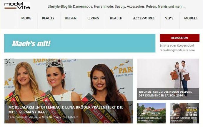 modelvita.com Lifestyle-Blog mit Relaunch