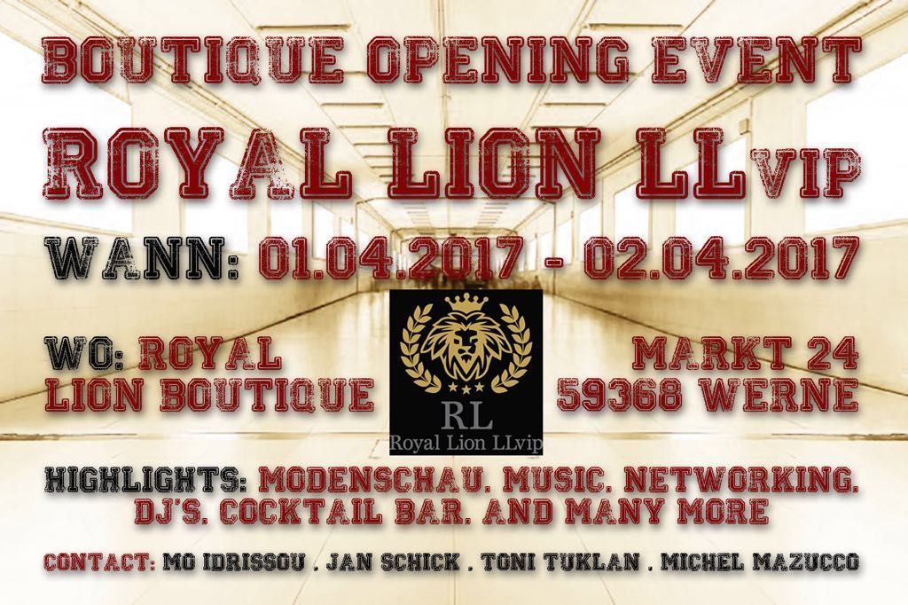Boutique Opening: Royal Lion LLvip