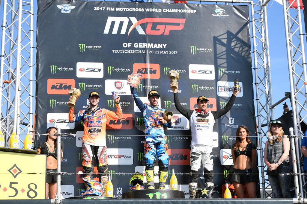 Fiat Professional Markenbotschafter Tony Cairoli gewinnt den deutschen Lauf zur Motocross-WM