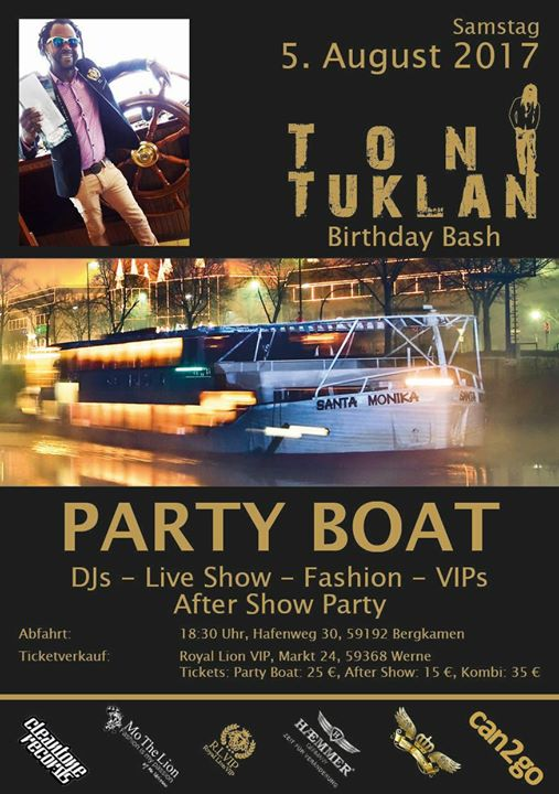 Toni Tuklan: VIP Party-Boat 2017