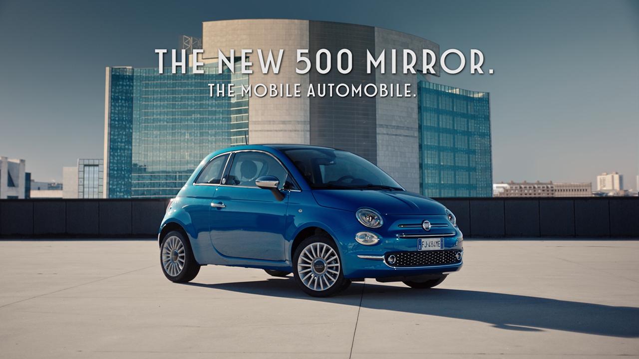 Neue Werbekampagne zu Mirror Sondermodellen von Fiat 500, Fiat 500X und Fiat 500L gestartet