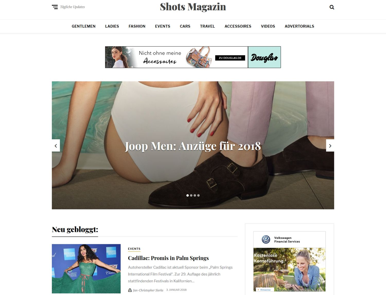Relaunch Shots Magazin, shots.media, 2018