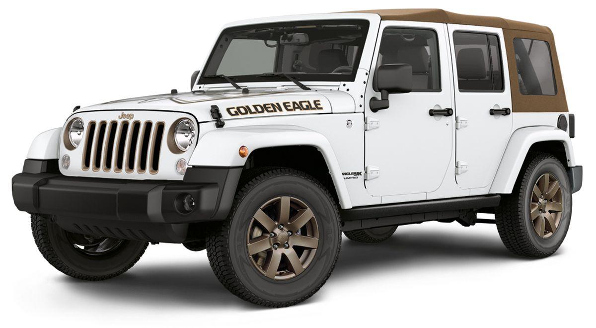 Neue Sonderedition 'Golden Eagle' feiert ein ganzes Jahrzehnt Erfolg der dritten Generation des Jeep® Wrangler in Europa