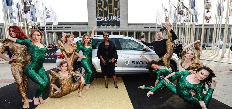 Skoda chauffierte die Stars zum Echo 2018