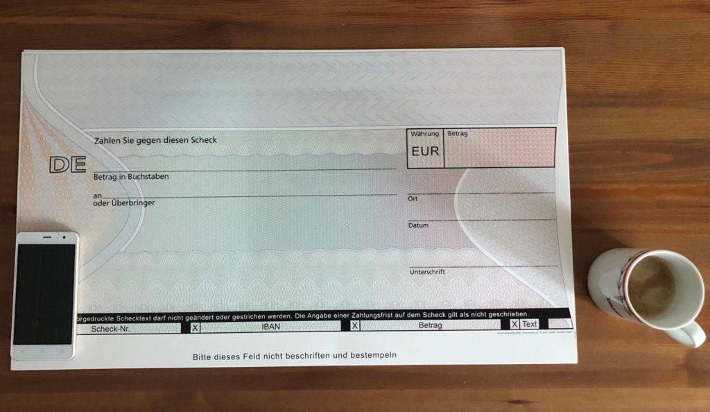 PR Scheck für die Scheckübergabe, PR Agent