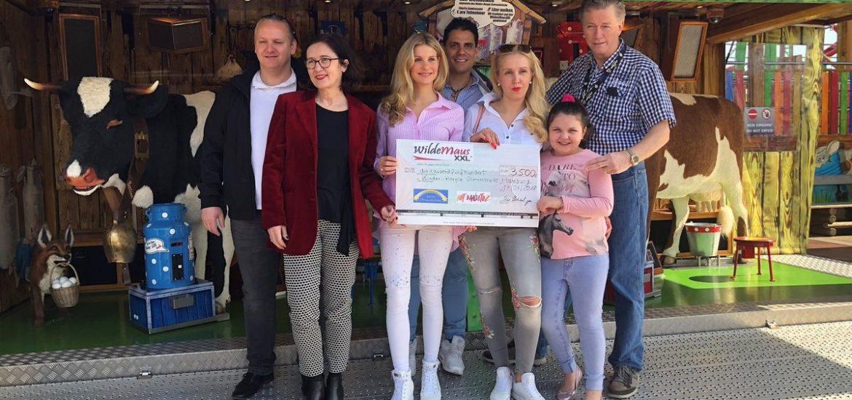 Wilde Maus XXL übergibt Spendenscheck in Höhe von 3.500,- Euro an Sternenbrücke
