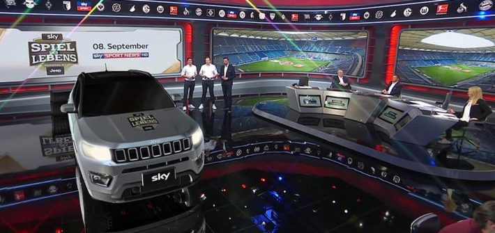 Erstmals in Europa: Jeep Compass debütiert als Augmented Reality bei Sky Media