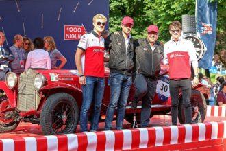 Dreifach-Sieg für Alfa Romeo bei Oldtimer-Rallye Mille Miglia