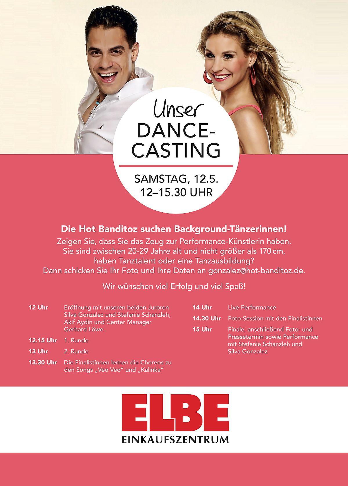 """Casting der """"Hot Banditoz"""" im Elbe-Einkaufszentrum"""