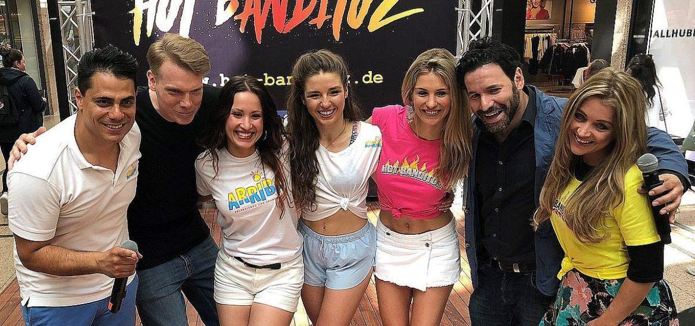 Die Siegerinnen des Dance-Castings der Hot Banditoz im Elbe-Einkaufszentrum