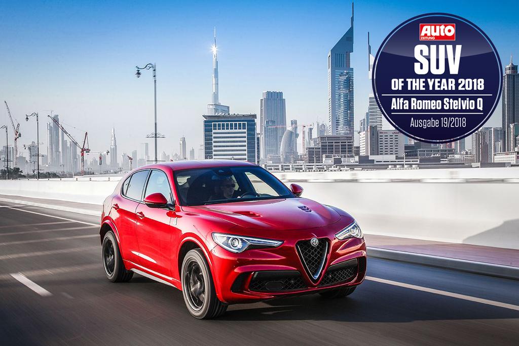 "Alfa Romeo Stelvio Quadrifoglio zum ""SUV des Jahres 2018"" gekürt"