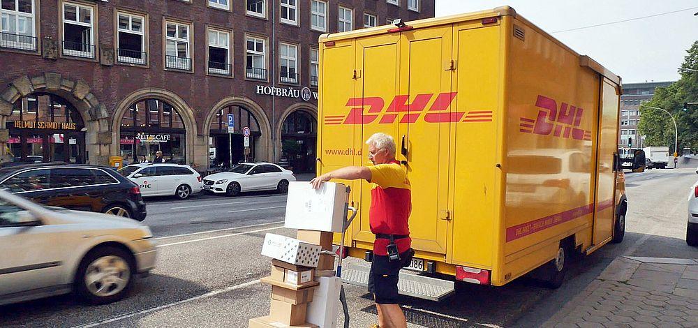 DHL-Zusteller unter Druck