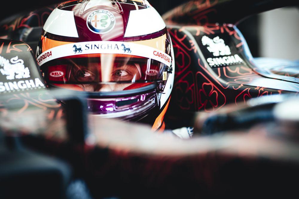 Kimi Räikkönen beim Shakedown von Alfa Romeo Racing in Fioranoa