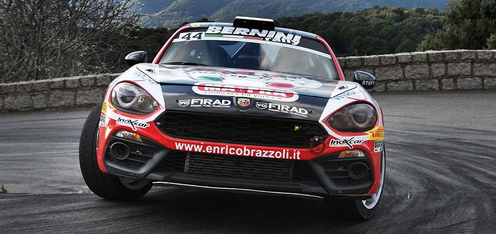 Abarth 124 rally in der Rallye-Weltmeisterschaft - Klassensieg auf Korsika zum 70. Geburtstag der Marke