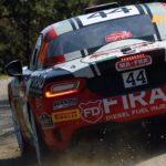 Mit dem Abarth 124 rally will Enrico Brazzoli bei der Rallye San Remo dritten Sieg in Folge erzielen
