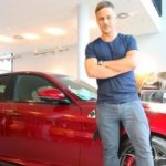 Ennstal-Classic: Schauspieler Tom Wlaschiha im Alfa Romeo Giulia Spider