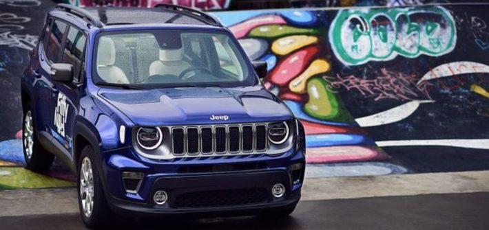 Jeep® Renegade auf der Bühne des FiftyFifty Lab in Brüssel