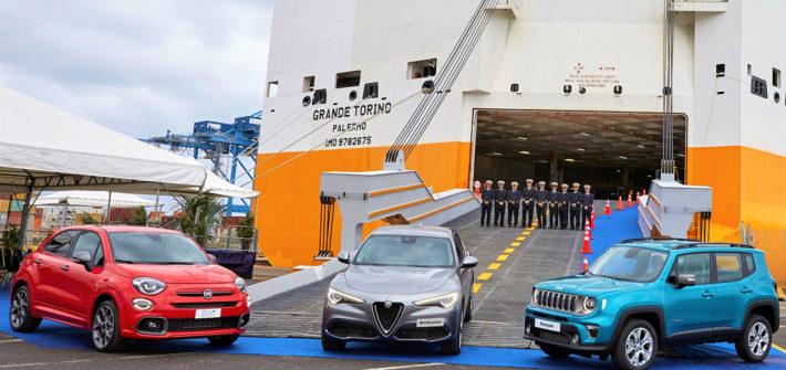 Grimaldi Group stellt neuen Frachter für Transport von Fahrzeugen der FCA Marken nach Amerika in Dienst