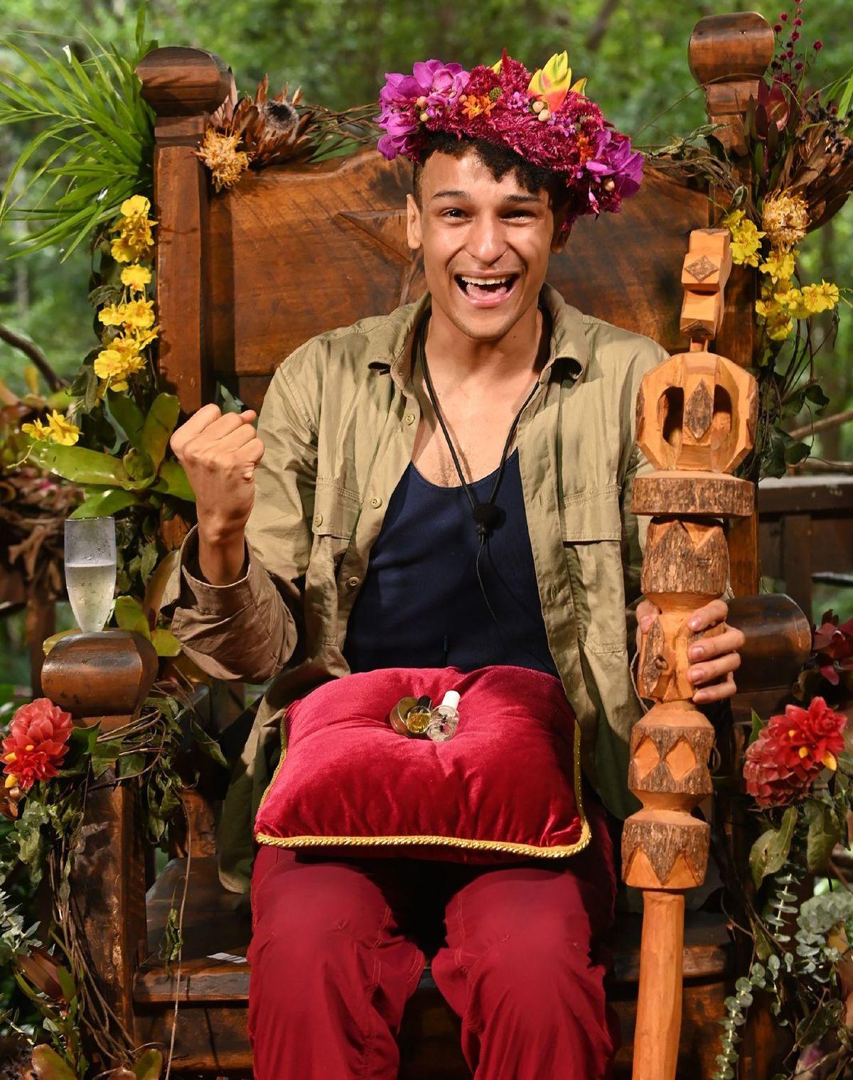 IBES: Prince Damien ist der Dschungelkönig 2020 <br> Foto: TVNOW / Stefan Menne