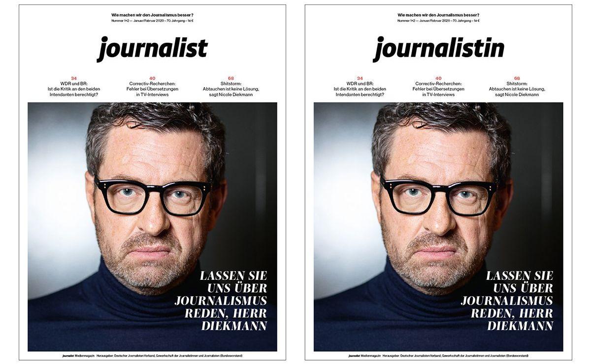 """Neues Doppel-Cover als """"Journalistin"""" und """"Journalist"""" (Januar/Februar Ausgabe 2020)"""