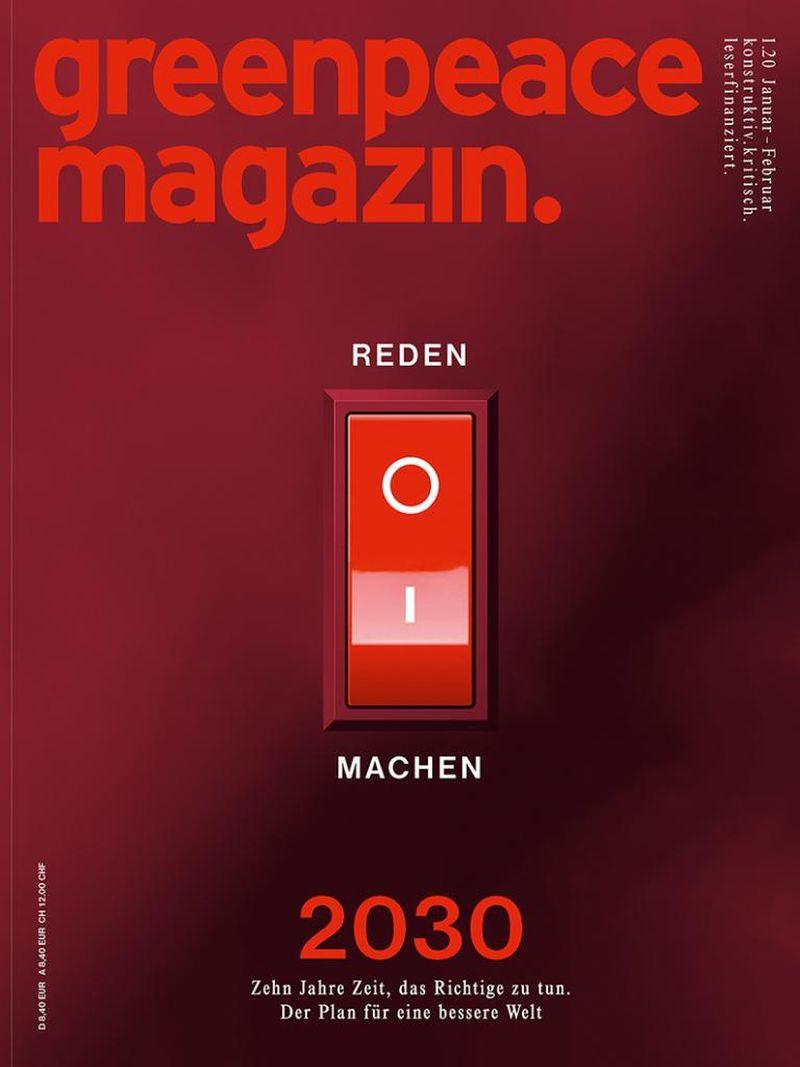 Greenpeace Magazin: Der im Dezember 2019 erschienene Titel ist das Cover des Jahres 2020.