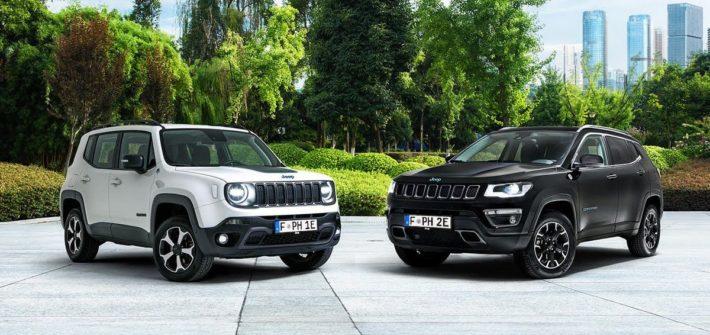 """Jeep® Renegade und Compass 4xe """"First Edition"""": Die neuen Plug-in Hybrid-Modelle (PHEV) von Jeep sind jetzt im Netz zu entdecken"""