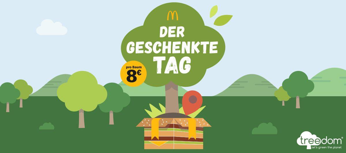 Treedom: McDonald's verschenkt Werbezeit