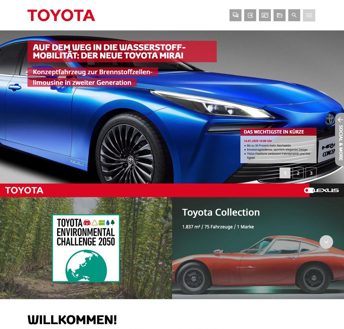Toyota-Mediaseite: toyota-media.de