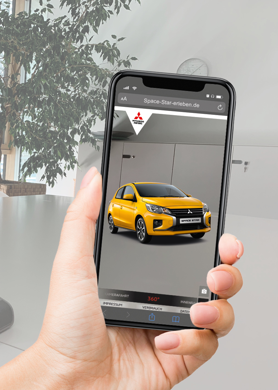 Mitsubishi Space Star in Augmented Reality