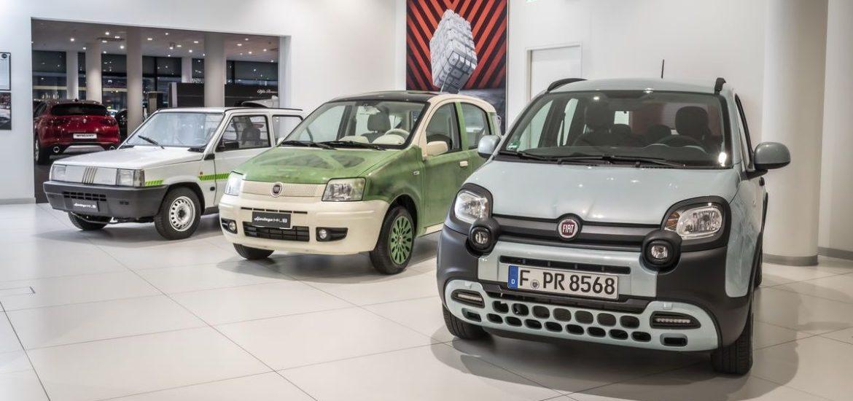 Anlässlich Premiere des Fiat Panda Hybrid und 40. Geburtstag des Fiat Panda – zwei Klassiker mit zukunftsweisenden Antrieben im Motor Village Frankfurt