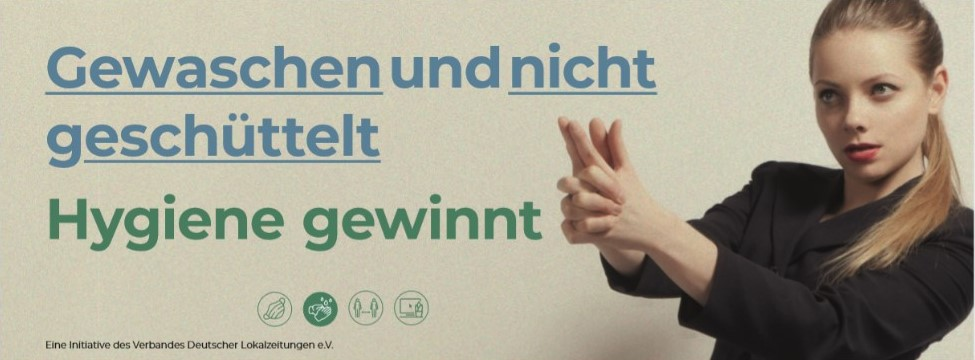 """""""Gewaschen und nicht geschüttelt"""": Lokalzeitungen starten eigene Gesundheitskampagne"""