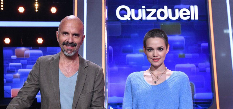 Emilia Schüle und Christoph-Maria Herbst beim Quizduell