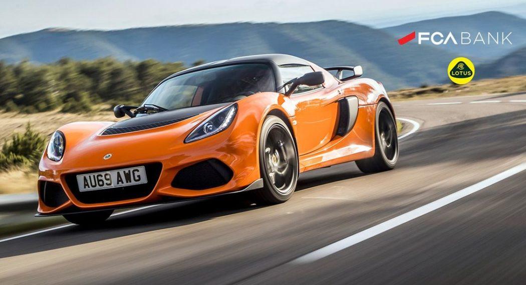 Neue Partnerschaft zwischen FCA Bank und Lotus: Attraktive Sportwagen-Finanzierungsangebote