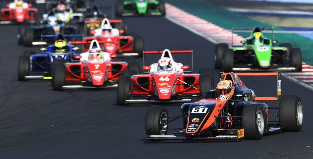 Fünf Sieger bei den sechs Formel-4-Rennen von Abarth in Deutschland und Italien