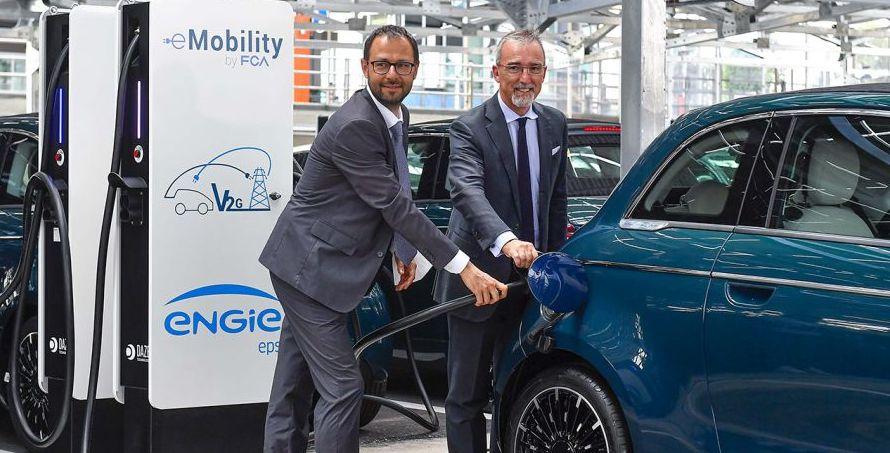 Vehicle-to-Grid-Projekt im Werk Mirafiori von Fiat Chrysler Automobiles vorgestellt