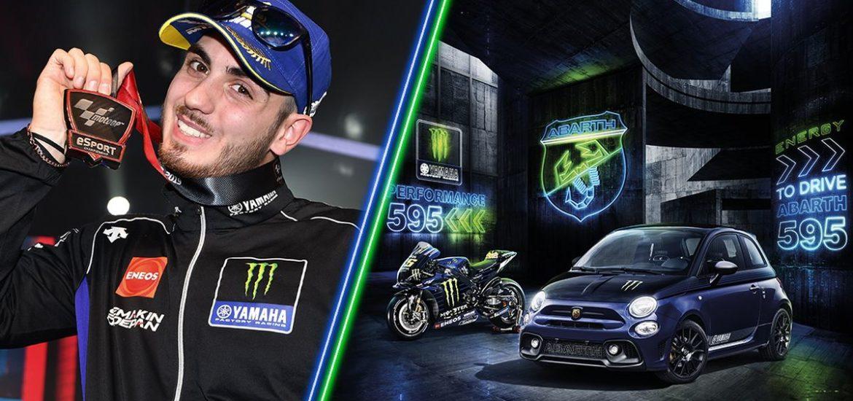 "Abarth: Lorenzo Daretti, alias ""Trastevere73"", ist offizieller eSport-Fahrer des MotoGP-Teams von Monster Energy Yamaha"