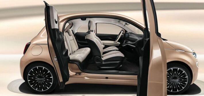 """Präsentation der kompletten Modellpalette des neuen Fiat 500 in Lingotto durch Olivier Francois und Weltpremiere der Variante """"3+1"""""""