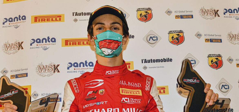Gabriele Minì ist neuer Champion der italienischen Formel 4 powered by Abarth