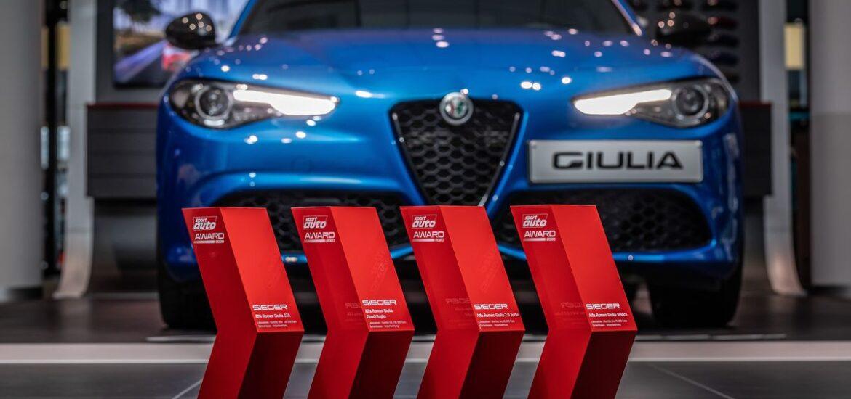 "Vier Siegerpokale – Alfa Romeo Giulia räumt beim ""SPORT AUTO AWARD 2020"" ab"