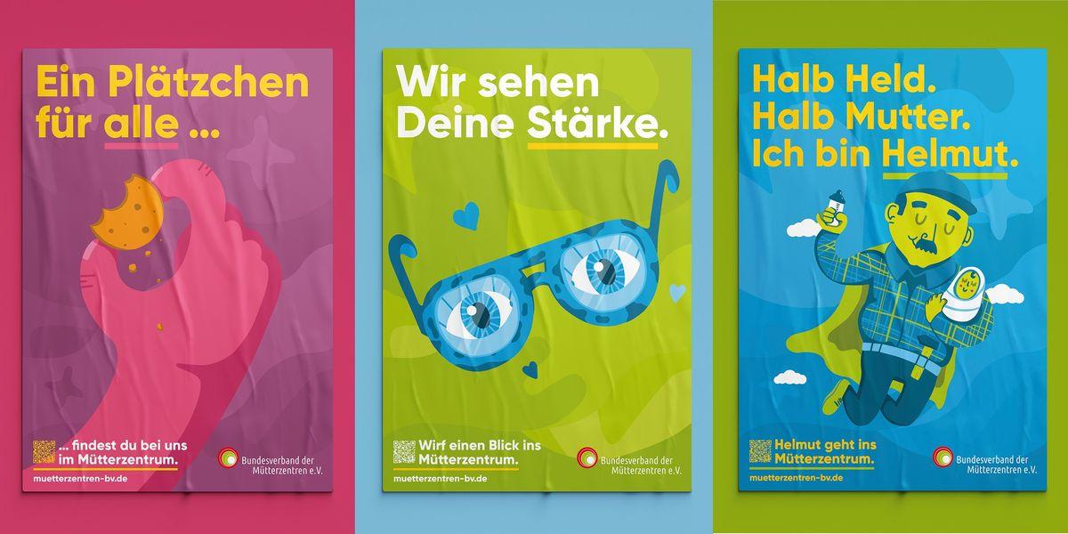 Im Mittelpunkt der Kampagne steht die Plakatserie.