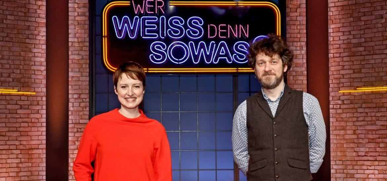 """Wanda Perdelwitz und Sven Fricke bei """"Wer weiß denn sowas?"""""""