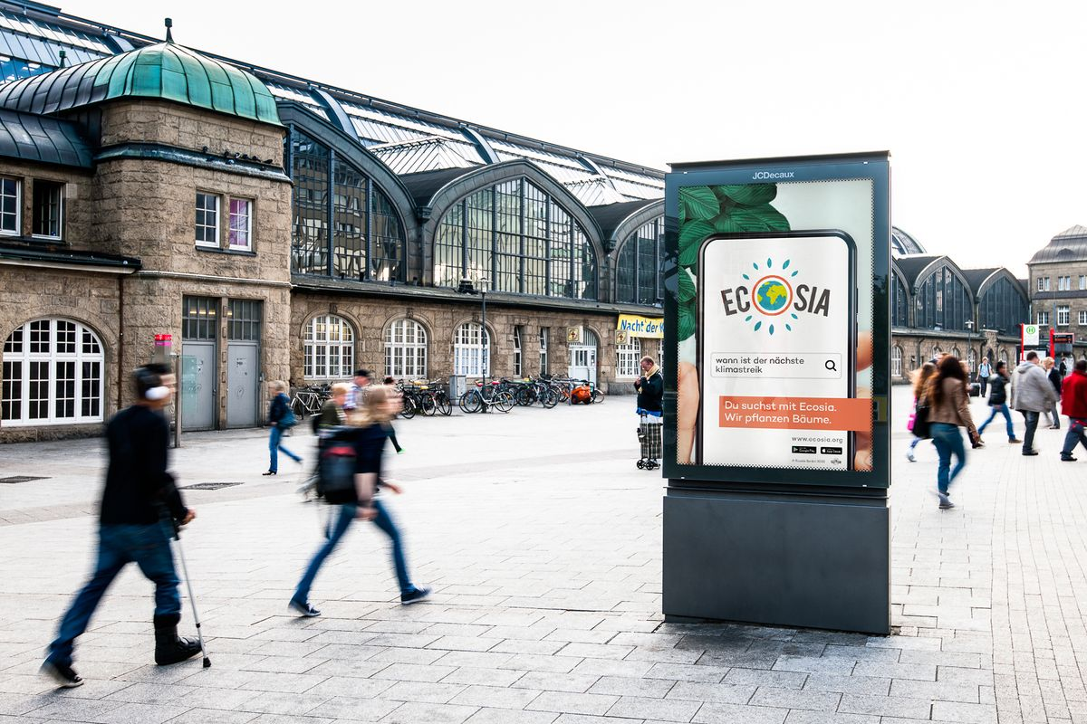 Out of Home Media: Ecosia in Hamburg.